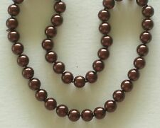 "10MM Rich Brown South Sea Shell Pearl Necklace 18"" NEW (silk gift bag)"