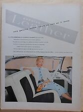 1956 magazine ad for Oldsmobile & Upholstery Leather Group - 98 Holiday Coupe