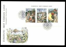 Sweden 1994 Europa, Explorers Booklet Pane FDC #C8545