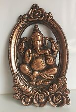 Ganesha 20 cm Ganesh Wall Hanging elephant face Hinduism Bronze antique statues