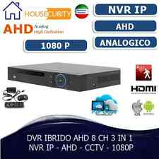 DVR IBRIDO NVR HVR AHD 8 CH CANALI FULL HD 1080P CLOUD 3G WIFI