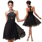 LAGER Neu Brautjungfern Ballkleid kurz Party Cocktail Kleid Gr.32 34 36 38 40-46
