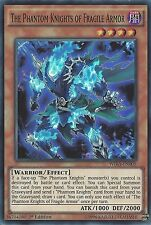 YU-GI-OH CARD: THE PHANTOM KNIGHTS OF FRAGILE ARMOR SUPER RARE WIRA-EN005 1ST ED