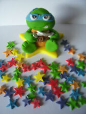 Comestible para decoración de pasteles Teenage Mutant Ninja Turtle Leonardo y estrellas Set