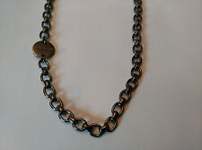 DYRBERG/KERN of DENMARK! Goddess Collection New GunMetal Finish Necklace