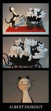 Les chat de Albert Dubout scultura gatto * le Landau *