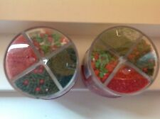 2X. CAKE MATE XMAS MIX DECORATING COOKIE DECOR HOLIDAY RED GREEN SUGAR SPRINKLE