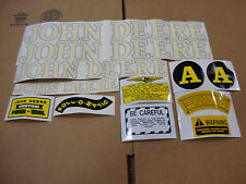 A JOHN DEERE A 1940-1952 TRACTOR HOOD AND SAFETY DECAL SET
