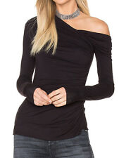 NEW Bailey 44 Bittersweet One Shoulder Ruched Long Sleeve Top S $158 NWT