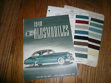 1948 Oldsmobile Sales Brochure with Acme Paint Chips Package - Color OEM 88 98