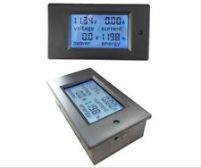 DC Battery 6.5-100V 20A LCD Voltage Current KWh Watt Power Digital Combo Meter
