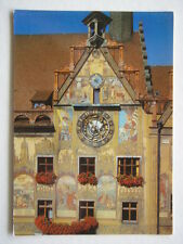 ULM TOWN HALL ASTRONOMICAL CLOCK AND MURAL FRESCOES POSTCARD