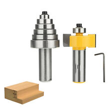 Rabbet Carbide Router Bit Milling Tool With 6 Bearings 1/2'' Shank -14705 Set