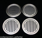 Contemporary Modern Black & Brushed Stainless Steel Set of 4 Stackable Coasters
