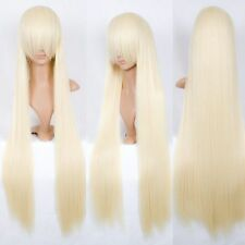 Chobits Chii 100cm Super Long Pale Milk Blonde Cosplay Wig - No Ears Accessories