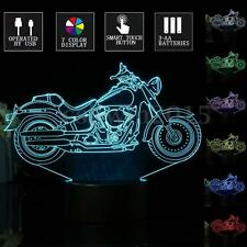 3D LED Retro Motorcycle Desk Lamp 7 Color Change Touch Switch Night Light Decor