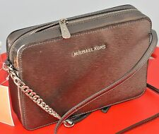 NWT Michael Kors Jet Set Travel PEWTER  Large EW  Crossbody Bag