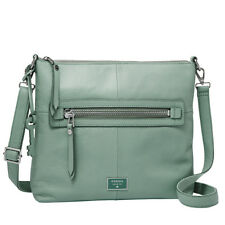 "Fossil ZB6708 ""DAWSON"" Top Zipper Sea Glass Color Hand Bag ZB6708116"