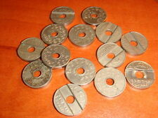 Israel 14 Public Phone Telephone Tokens from 1966   Medal Jewish token
