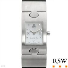 NWT Women Rama Swiss Mother of Pearl Puzzle Swiss Movement Rubber Watch NEW $475