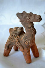 "ANTIQUE CHINESE TERRACOTA CAMEL, SCULPTURE, POTTERY. 4 1/2""tall x 3""L VERY RARE"