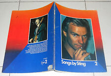 Spartiti SONGS BY STING 2 - PIANO VOCAL Songbook Sheet music