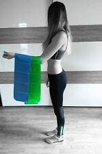 Fitnessband Gymnastikband  theraband blau und grün stark + leicht in 2,2m Länge