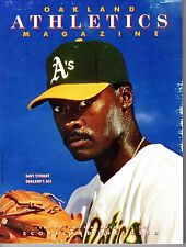 1989 Oakland A's Athletics MLB Baseball Magazine Volume 9 #3 Program