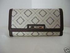 Authenic Nine West Pattern Logo Women's Wallet Cream