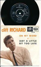 "CLIFF RICHARD 45 TOURS 7"" UK ON MY WORLD"