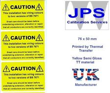 Electrical Labels - 10 Electrical Caution Labels  76 x 50mm JPSLABEL4d