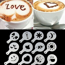 New 16Pcs Modern Minimalist Style Coffee Latte Mold Dusting Pad Printing Model