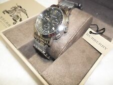 New Burberry Chronograph Anthracite  Stainless Steel Swiss made BU1360 Men's