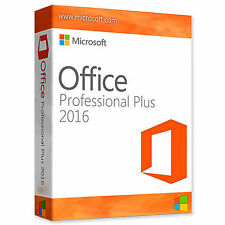 Microsoft Office 2016 Professional Plus Software Full Suite Digital Download