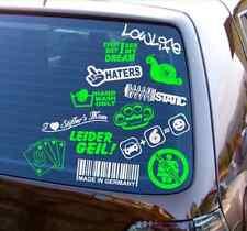 Scheibenaufkleber 5 Stück Set - Kleine Auto Heckscheiben Sticker - Set nach Wahl