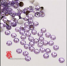 DIY 800pcs 4mm Facets Resin Rhinestone Gems Flat Back Crystal beads Purple []A2