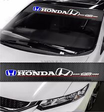 HONDA Mugen Power Drift Racing Windshield Carbon Fiber Banner Decal Sticker DIY