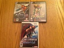 Metroid Prime 1,2 &3 echoes & corruption Nintendo WII & GameCubes games