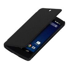 FLIP COVER FOR LG GOOGLE NEXUS 5 BLACK CASE SLIM BACK SHELL HARD MOBILE PHONE