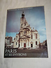 """""""DICTIONNAIRE DES EGLISES DE FRANCE - PARIS ET SES ENVIRONS"""" (1968) R. LAFFONT"""
