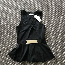 Forcast Black Top Size 8 RRP$55 Great For Work And Great For Clubbing