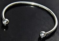 UK Hallmarked Solid Sterling Silver Torque Bangle - 12.4 grams
