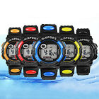 Mens Womens Sports Digital LED Quartz Alarm Day Date Rubber Band Wrist Watch