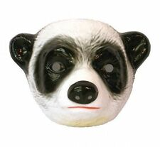 Child Plastic Panda Mask Jungle Animal Fancydress Accessory Bear Black and White