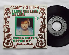 "Gary GLITTER I love you love me love FRENCH 7"" w/diff PS - BELL (1973) glam NM"