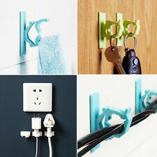 8Pcs White Cable Clips Adhesive Cord Management Organizer Wire Holders Clamp
