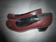 Office Low Heeled Red Shoes Size 3 UK EUR 36 Used