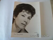CARTE PHOTO ANNEES 60  PIA COLOMBO disques PHILIPS   F29