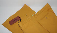 NWT MISSONI Mustard FLAT Front Cotton BELL Bottom Chino Pants Made ITALY 52 NR