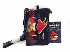 Disney Black Angry Birds ID Holder Lanyards with Detachable Coin Purse